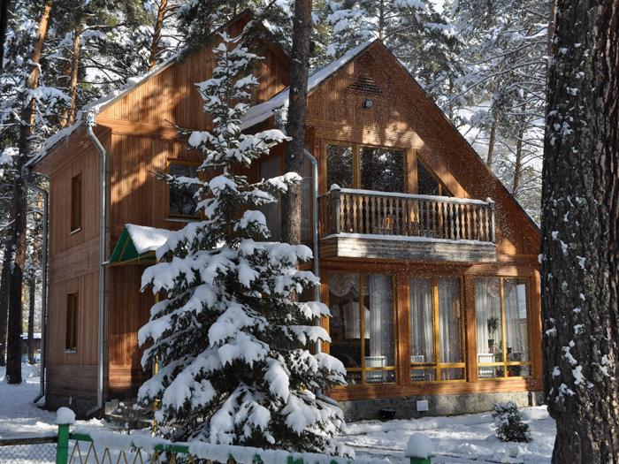 Домики в горном на новый год